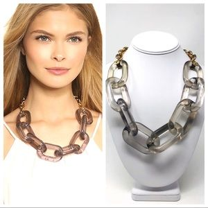 Kenneth Jay Lane Oversized Chain Link Necklace